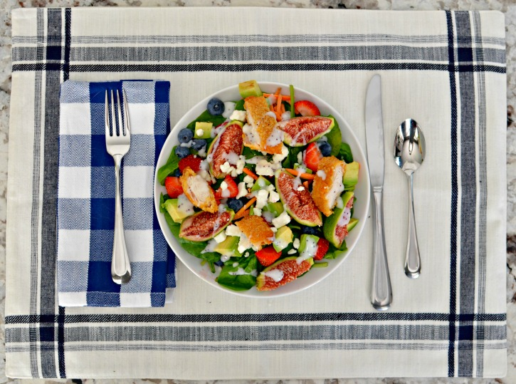 Summer Fruit and Fresh Fig with chicken salad