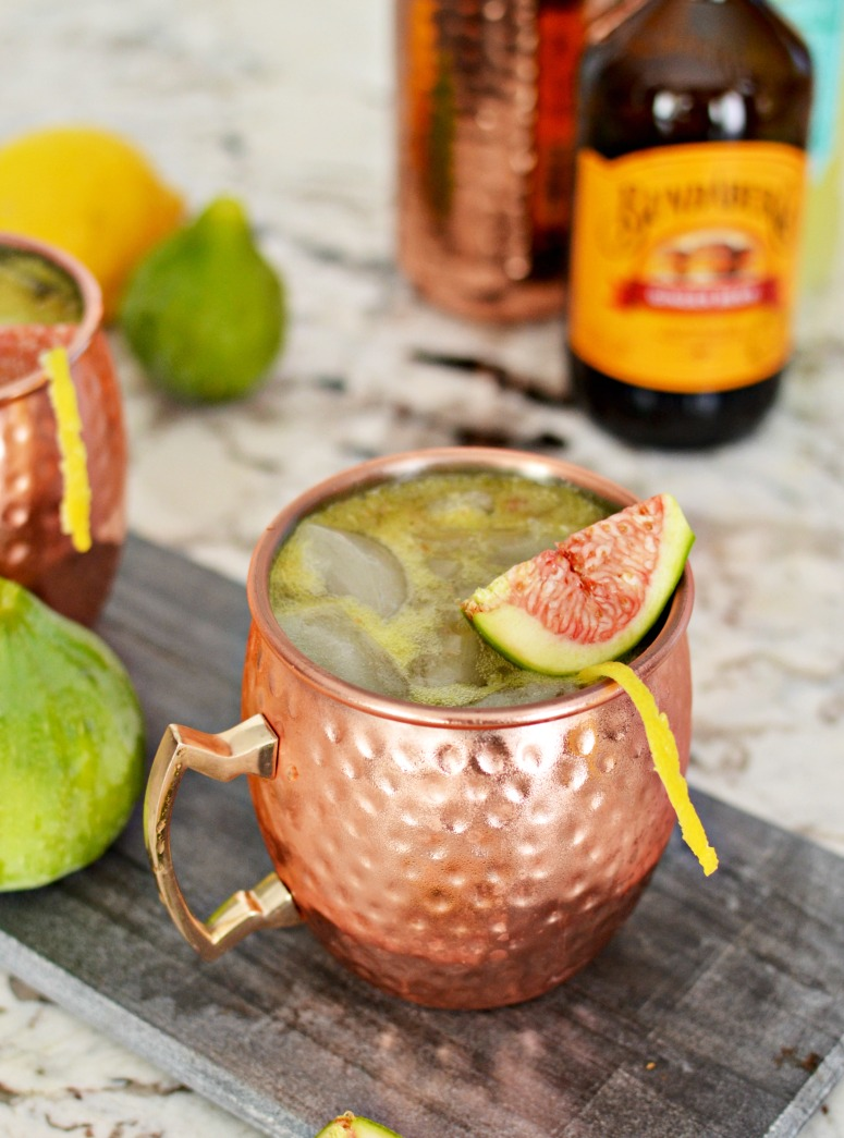 Fresh Fig Moscow Mule Cocktail Recipe